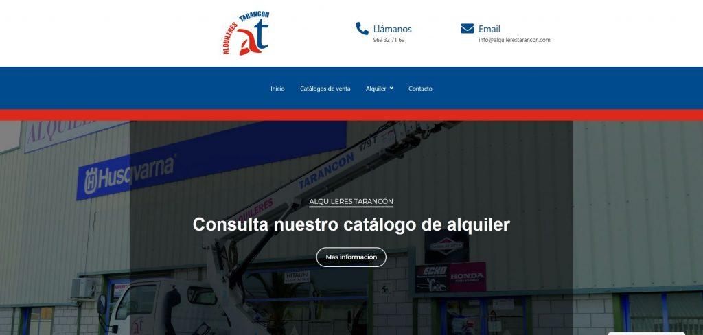 Diseño web: Alquileres Tarancón 3